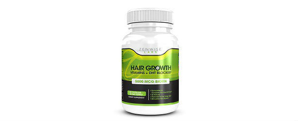 Zenwise Labs Hair Growth Vitamins + DHT Blocker Review 615